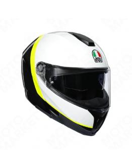 AGV SPORTMODULAR 後掀式全罩安全帽 碳纖維 #RAY CARBON 白/黃