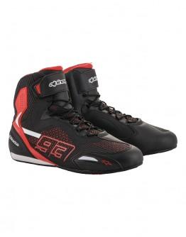 ALPINESTARS AUSTIN KNITTED RIDING SHOES 短筒車靴 MM93 #黑紅白