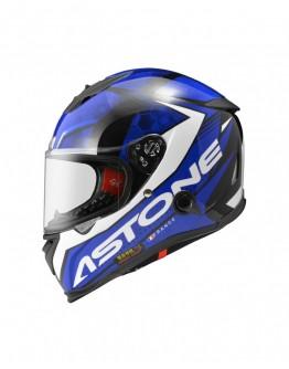 ASTONE GTB800 全罩安全帽 AO11彩繪 #平光黑藍 內藏墨鏡