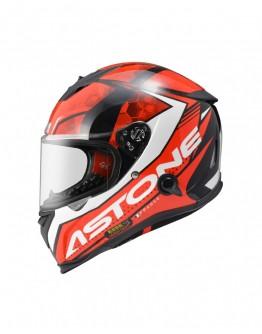 ASTONE GTB800 全罩安全帽 AO11彩繪#亮面黑紅 內藏墨鏡