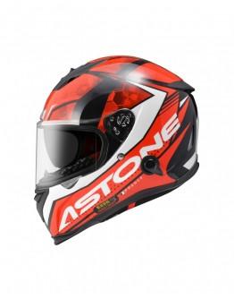 ASTONE GTB800 全罩安全帽 AO11彩繪#平光黑紅 內藏墨鏡