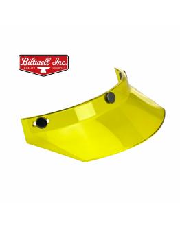 美國 Biltwell Moto Visor 帽簷 通用型 復古帽 #透明黃