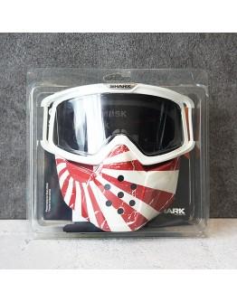 SHARK DRAK GOGGLE & MASK JAPAN OS 防風鏡面罩 旭日旗