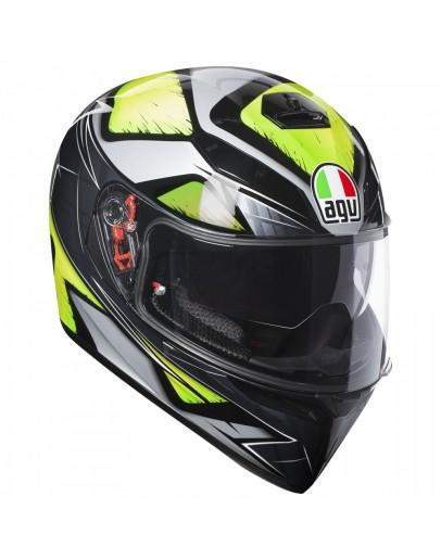 AGV K-3 SV 全罩式安全帽 彩繪 LIQUEFY #灰黃