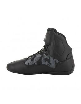 ALPINESTARS FASTER-3 SHOES CAMO 短筒 防摔車靴 #黑灰迷彩
