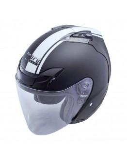 Lubro Air Tech 3/4罩 安全帽 消光黑-白 通風 內襯可拆 半罩帽